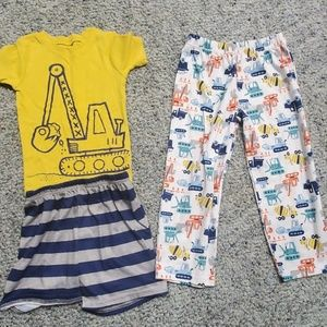 5 sets of cotton boys 5T 2 piece pajamas